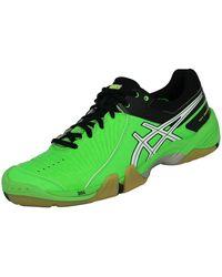 Asics GEL DOMAIN Chaussures de Handball Homme Vert Noir Chaussures - Bleu