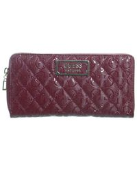 Guess Compagnon ref_50949 MER 21*10*2 Portefeuille - Rouge