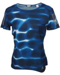 adidas - Rs q1 ss tee w blue femmes T-shirt en bleu - Lyst