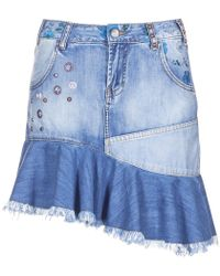 Desigual - Celouc Women's Skirt In Blue - Lyst