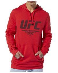 Reebok Ufc FG Pullover Hoodie - Rosso