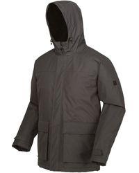 Regatta Sterlings Ii Waterproof Insulated Hooded Jacket Grey Parka