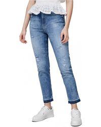Guess Skinny Jeans W1ga35 D3ztd Girly - Blauw