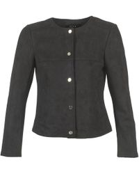 Vila - Vihale Women's Leather Jacket In Black - Lyst
