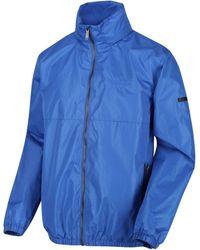 Regatta Ladomir Lightweight Waterproof Hooded Bomber Jacket Blue Coat