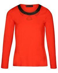 Bleu D'azur T-shirt CARA - Rouge