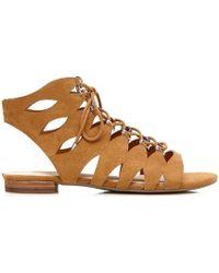 Guess | Flro21 Esu03 Sandals Women Brown Women's Sandals In Brown | Lyst