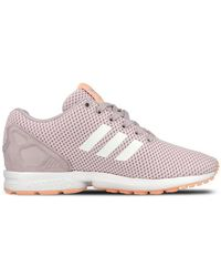 75650a626c8d adidas Originals Zx Flux Snake-Print Trainers in Gray - Lyst