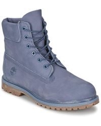 "Timberland - Earthkeepers® 6"" Premium Boot Women's Mid Boots In Grey - Lyst"