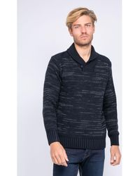 Ritchie Pull Pull col châle en maille LOOPING - Bleu