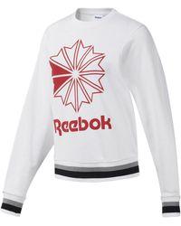 Reebok Sweater Classics Big Logo Sweatshirt Met Ronde Hals - Zwart