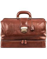 Maxwell Scott Bags Tan Women's Briefcase In Brown