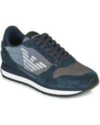 Emporio Armani Lage Sneakers X3x058-xm510 - Blauw