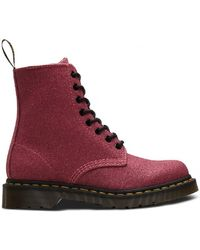 Dr. Martens 1460 Pascal Glitter Boots - Rose