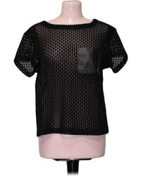 Gerard Darel Top manches courtes - Taille 38 Blouses - Noir