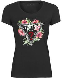 Guess - T-shirt Korte Mouw Ss Cn Rebecca Tee - Lyst
