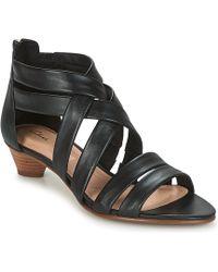 7c02c060a27 Clarks - Mena Silk Women s Sandals In Black - Lyst