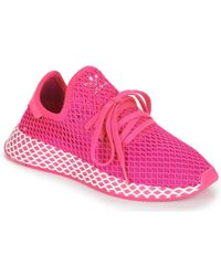 bed7ec2aec1db adidas - Deerupt Runner W Women s Shoes (trainers) In Pink - Lyst