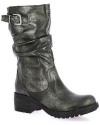 Pao Boots cuir laminé Bottes - Noir