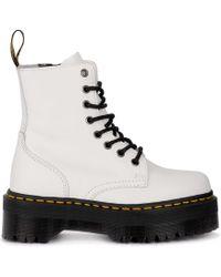 d2eb95125481 Dr. Martens Jadon Platform Sole Combat Boot in White - Save 99% - Lyst