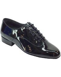 Vitiello Dance Shoes Scarpa da uomo per ballo standard in vernice nero