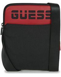 Guess Handtasje Elvis Crossbody Flat - Zwart
