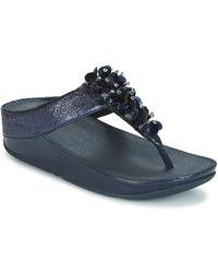 Fitflop - Boogaloo Toe Post Women's Flip Flops / Sandals (shoes) In Blue - Lyst