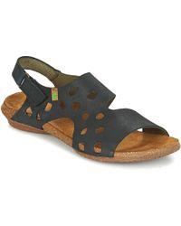 El Naturalista - Wakataua Women's Sandals In Black - Lyst