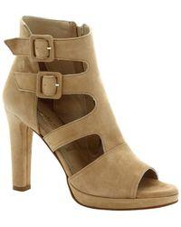 Leonardo Shoes Sandali da donna con tacco artigianali in cam - Neutro