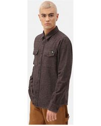 Dickies Overhemd Lange Mouw Woodmere - Bruin