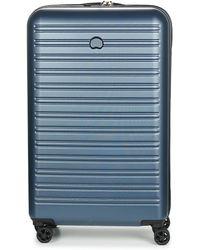 Delsey Segur 4dr 78cm Hard Suitcase - Blue