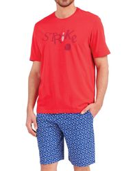 EMINENCE T-shirt - pyjama court - Rouge
