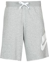 Nike Short en molleton Sportswear Alumni pour - Gris