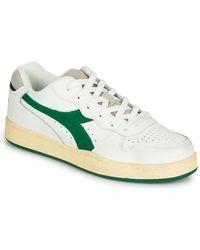 Diadora Lage Sneakers Mi Basket Low Used - Wit