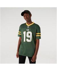 KTZ T-shirt Korte Mouw Maillot Green Bay Packers Oversize Nfl Logo - Groen