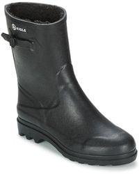 Icare Fur Men's Wellington Boots In Black