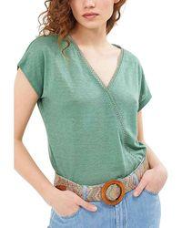 I Code Tee Shirt Manches Courtes Col V T-shirt - Vert