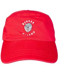 436ab6939 Versus - Versace Baseball Cap Buc0040 Bt10524 Men's Cap In Red - Lyst