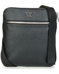 Emporio Armani Sacoche BUSINESS FLAT MESSENGER BAG - Noir