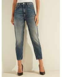 Guess Jeans W0YA21 D3Y08 - MOM JEANS - Bleu
