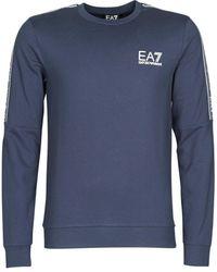 EA7 Sweater Train Logo Series M Tape T-top Rn - Blauw