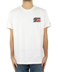 Tommy Hilfiger Overhemd Korte Mouw Dm0dm10952ybr - Wit