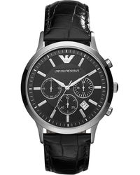 Armani Horloge Ar2447 - Zwart
