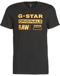 G-Star RAW T-shirt Korte Mouw Compact Jersey O - Zwart