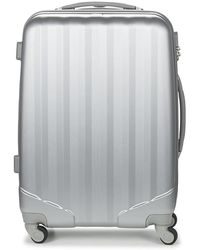 David Jones Chauvetta 64l Hard Suitcase - Metallic
