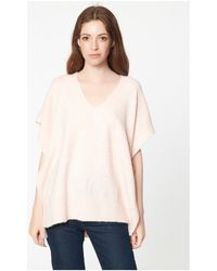 Best Mountain - Poncho chiné col V Pull - Lyst