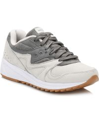 Saucony - Grey Grid 8000 Trainers Women's Shoes (trainers) In Grey - Lyst