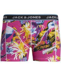 Jack & Jones Jack Jones Boxer 12171647 JACSUMMER ANIMALS TRUNKS STS DIVA PINK - Rosa