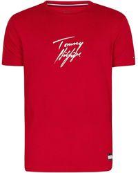 Tommy Hilfiger T-shirt graphique Lounge Signature T-shirt - Rouge