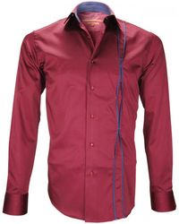 Andrew Mc Allister Chemise mode ickenham bordeaux Chemise - Rouge